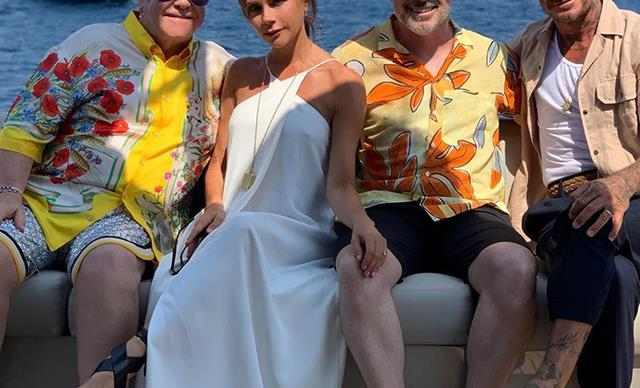 David Beckham teases wife Victoria Beckham on their luxury holiday with Elton John