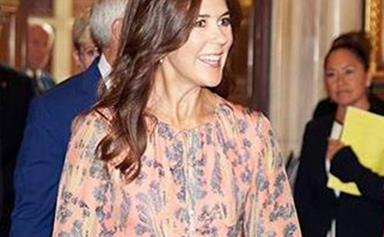 Crown Princess Mary glows as she steps out in a stunning recycled H&M dress