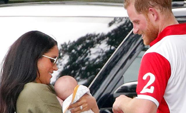 "Meghan and Harry spotted at a local pub in Windsor with baby Archie, and he was ""good as gold"""