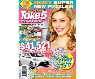 Take 5 Pocket Puzzler Issue 181 Online Entry Coupon