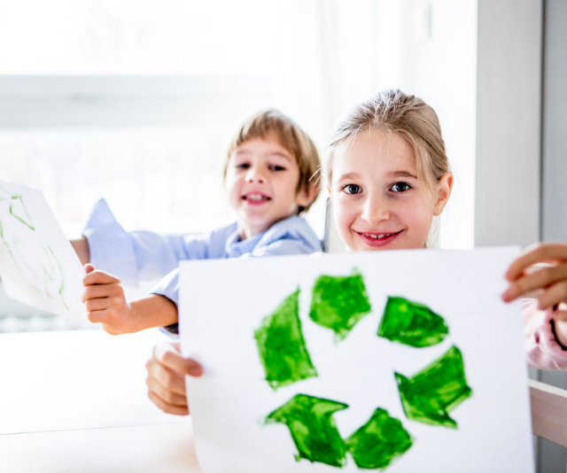 Here's how to get kids to get on board the recycling train.