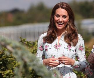 Duchess Catherine makes a dazzling summery entrance on a tractor as she attends vibrant garden festival