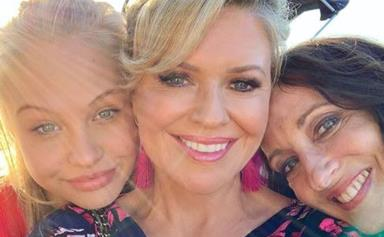 The cast of Home and Away bid an emotional farewell to Olivia Deeble