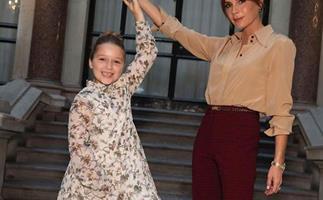 Harper Beckham rubs shoulders with fashion's elite at Victoria Beckham's latest show