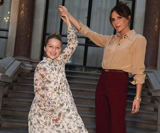 Harper Beckham rubs shoulders with fashion's elite at Victoria Beckham's latest show