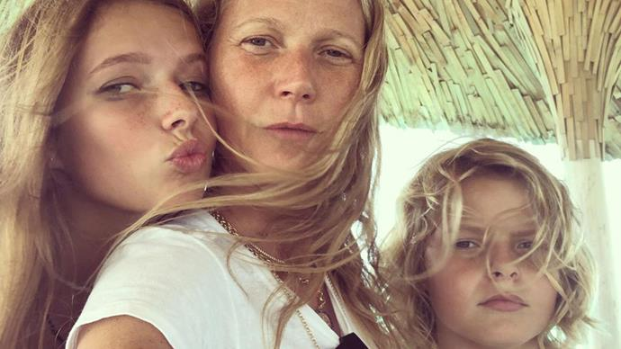 Gwyneth Paltrow's gorgeous kids Apple and Moses look just like her!