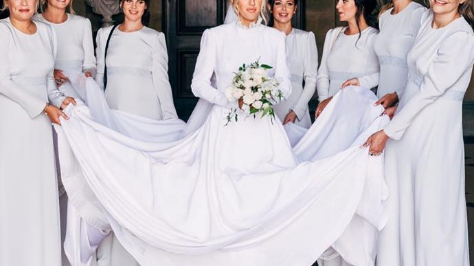 Ellie Goulding reveals never-before-seen photo of her SEVEN stunning bridesmaids