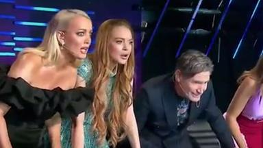 Lindsay Lohan clearly has no idea who any of the Masked Singer celebrities are