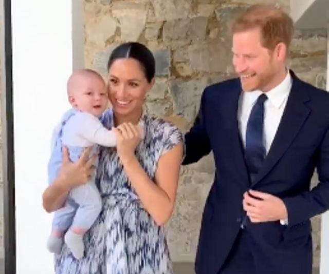 Archie makes his first official royal tour appearance with his proud parents in adorable new video
