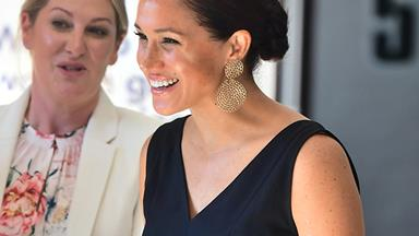 Duchess Meghan dons black jumpsuit for a day of female empowerment