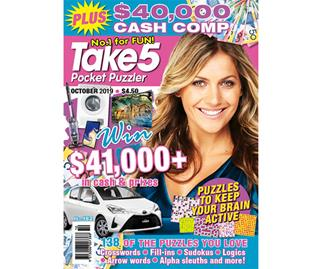 Take 5 Pocket Puzzler Issue 182 Online Entry Coupon