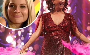 An emotional Lynne McGranger recalls the time Belinda Emmett found a lump in her breast