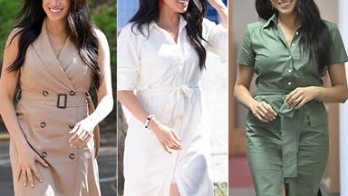 Shirt dresses galore! Duchess Meghan's most stunning fashion moments on her royal tour of Africa