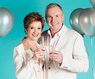 Neighbours' Alan Fletcher and Jackie Woodburne celebrate 25 years together as Karl and Susan Kennedy