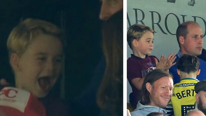 GOAL! Prince George's meme-worthy reaction during his surprise football appearance is the greatest thing you'll see today