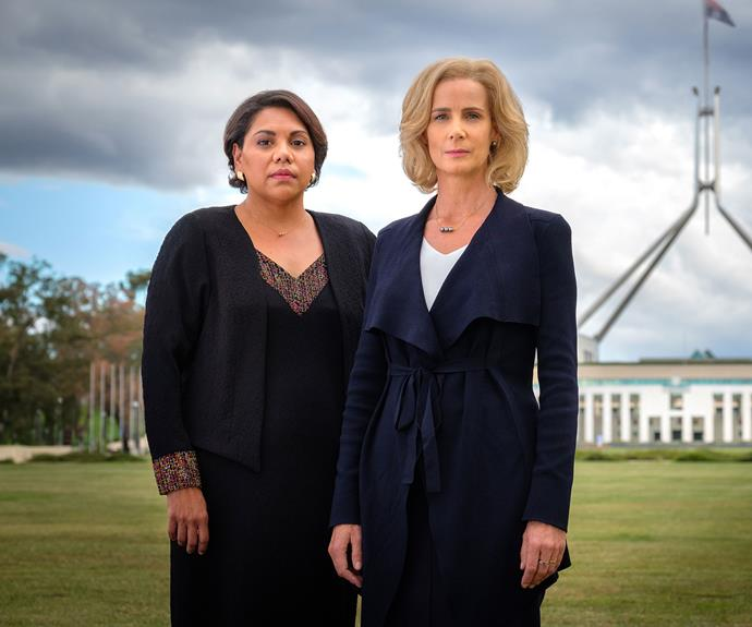 Rachel Griffiths and Deborah Mailman in *Total Control*.