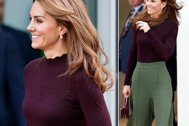 Duchess Catherine shows off new blonde highlights and a stylish pair of trousers as she steps out in support of environmental action