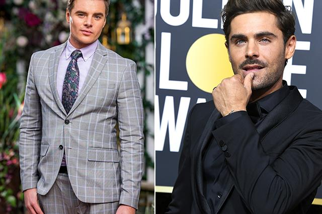 Bachelorette fans are slamming contestant Kayde for saying he looks like Zac Efron