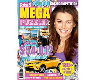 Take 5 Mega Puzzler Issue 45 Online Entry Coupon