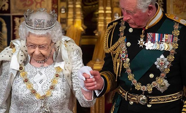 The Queen wore her finest jewels for her latest engagement with Prince Charles - but there was one glaring thing missing