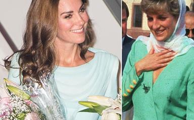 The subtle way Duchess Catherine is channelling Princess Diana's style in Pakistan
