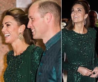 Duchess Catherine literally glitters as she and Wills step out for glamorous evening in Pakistan