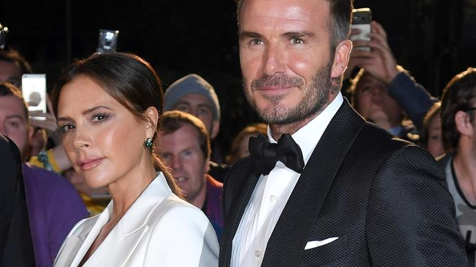 "Victoria Beckham says it was ""love at first sight"" for her and husband David Beckham"