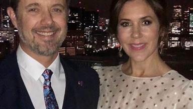 Crown Princess Mary just wore a wedding dress for her date night with Frederik, and she's glammed it up like a pro