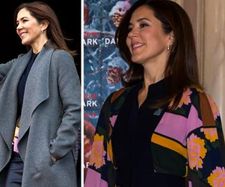 Crown Princess Mary just whipped off her coat and stunned us in her most vibrant & colourful outfit yet
