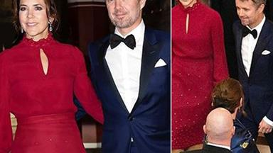 Crown Princess Mary is drop-dead gorgeous in siren red during dinner date with Frederik