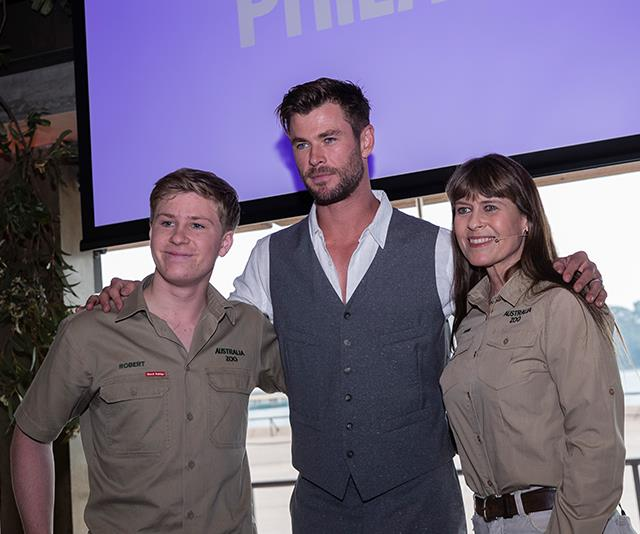 Chris Hemsworth teams up with Terri and Robert Irwin for a very Aussie project