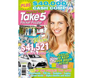 Take 5 Pocket Puzzler Issue 183 Online Entry Coupon