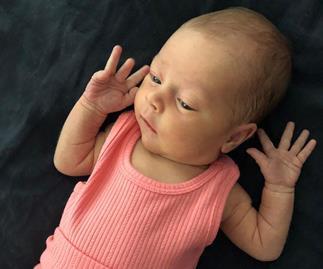 Jennifer Hawkins' adorable new photos of her newborn baby daughter