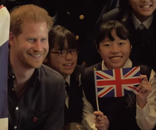 "Prince Harry's cheeky response to a schoolgirl who called him ""handsome"""