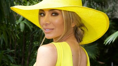 And she was all yellow! Nadia Bartel is a literal ray of sunshine at Melbourne Cup 2019