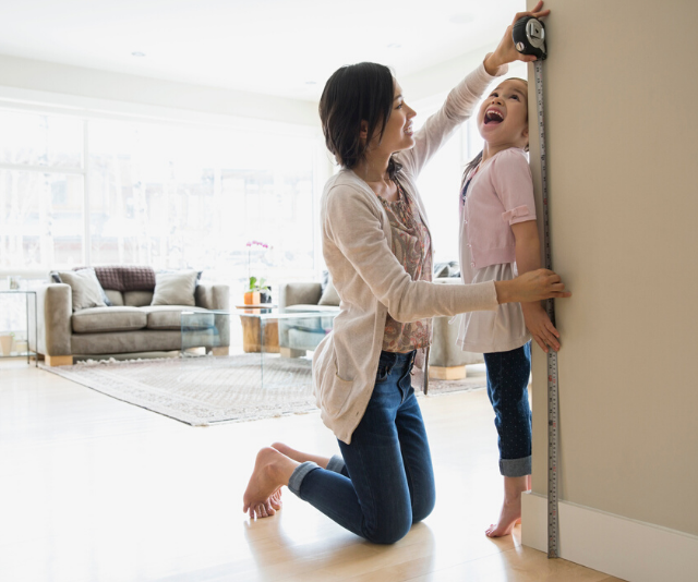 The simple trick to work out how tall your kids will be