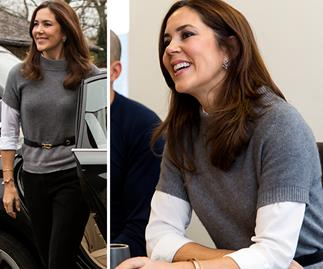 Crown Princess Mary just wore the perfect trans-seasonal outfit - with a chic twist