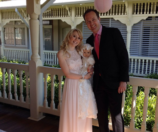 Nikki Webster with her estranged husband