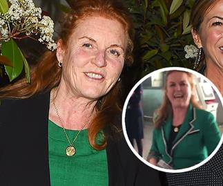 Sarah Ferguson just sped through an airport on a scooter in a Gucci blazer - yes, you read correctly