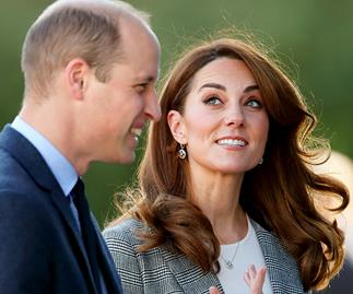Kate Middleton and Prince William put on a rare show of PDA at surprise engagement