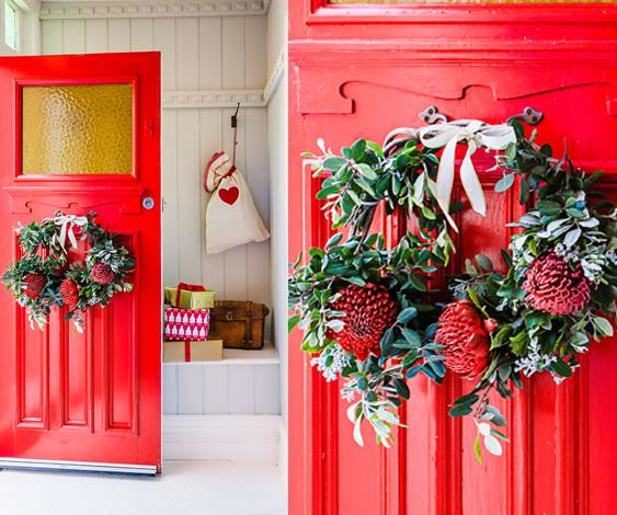 How to make a fresh flower wreath this Christmas