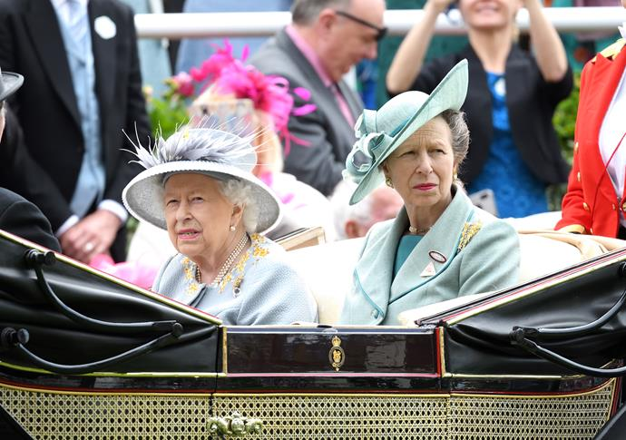 Princess Anne with the Queen