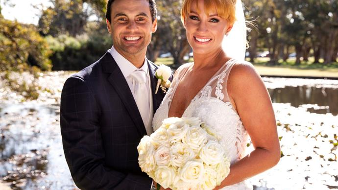 Jules Robinson ties the knot in her dream wedding dress