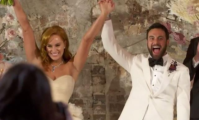 All the guests at Married At First Sight's Jules and Cam's wedding extravaganza