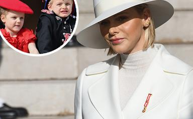 Princess Charlene of Monaco makes her most stylish statement yet as her children are pictured all grown up