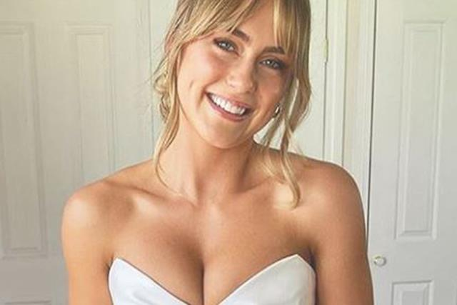 Stunning Aussie model Steph Claire Smith just got married in a wedding dress with a surprising bare-all twist