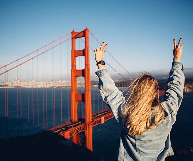 Walk or bike across the Golden Gate Bridge for optimum views.