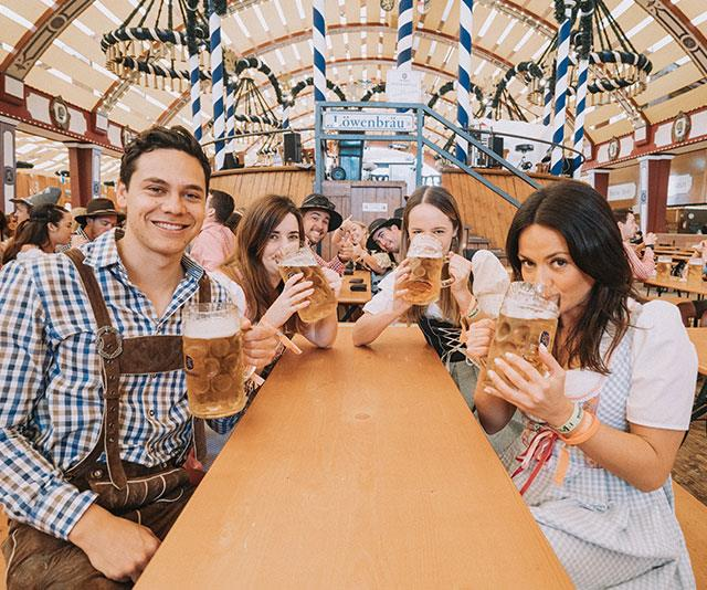 Inside the Oktoberfest tent Australian tourists can't get enough of
