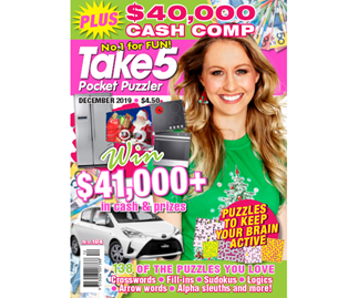 Take 5 Pocket Puzzler Issue 184 Online Entry Coupon