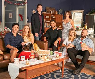 The cast of Home and Away celebrate the festive season